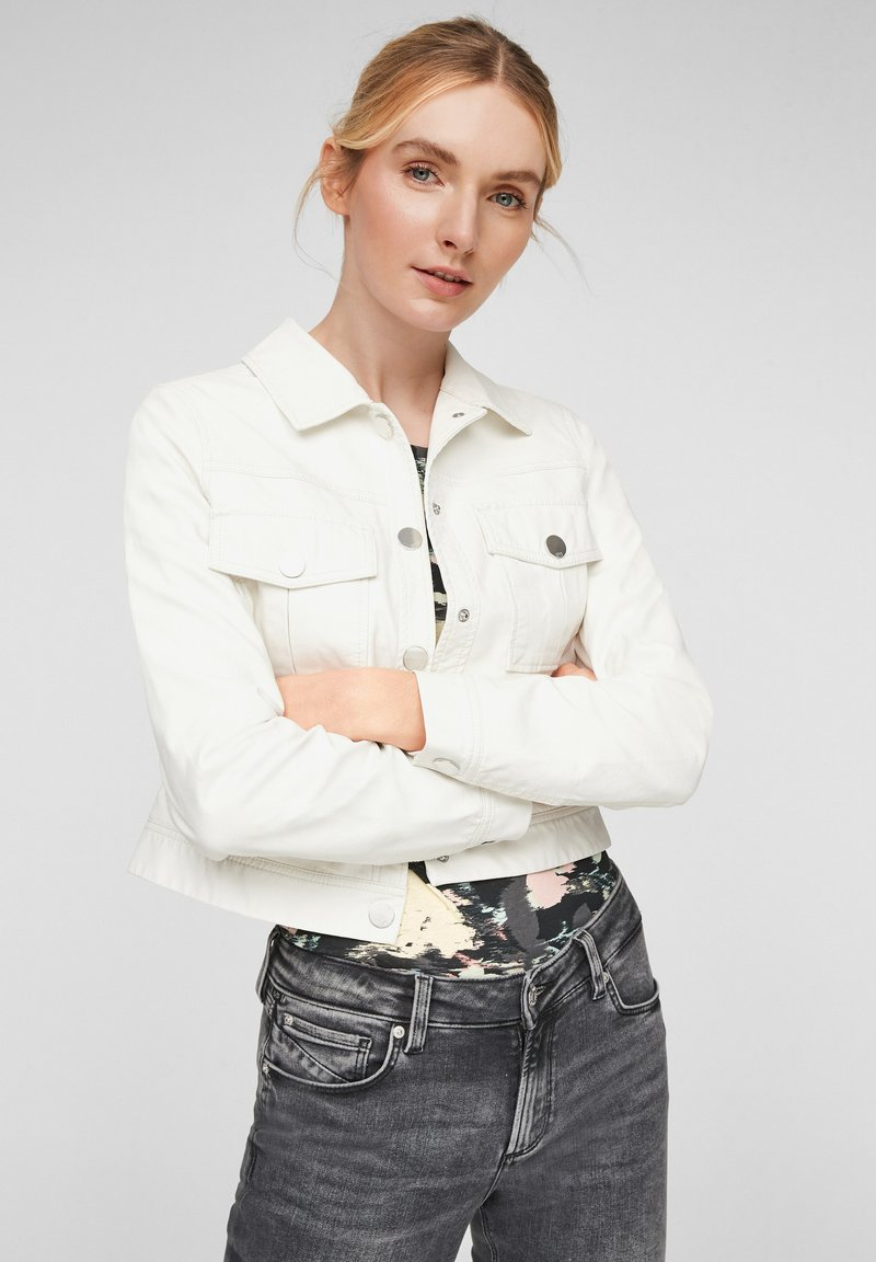QS by s.Oliver - Faux leather jacket - cream