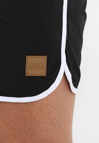 Urban Classics - RETRO - Swimming shorts - black/white - 3