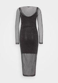 AllSaints - FRANCESCO METALLIC DRESS 2-IN-1 - Shift dress - black - 1