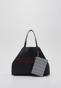 Tommy Hilfiger - ICONIC TOMMY TOTE SIGNATURE - Shopping bag - blue - 5