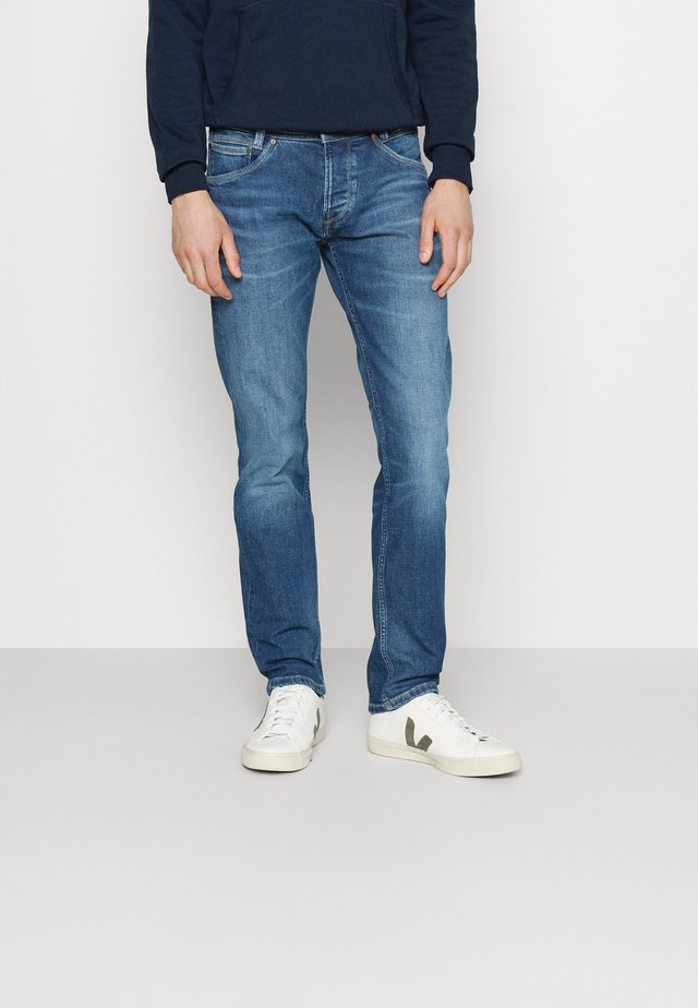 SPIKE - Jean droit - denim