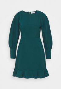 Closet - PEP HEM PENCIL DRESS - Shift dress - forest green - 4
