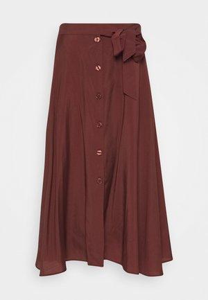 ENA - Maxi skirt - cinnamon