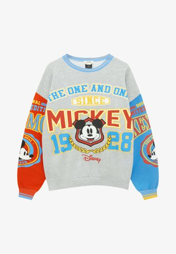 COLLEGE MICKEY MOUSE - Sweatshirt - grey