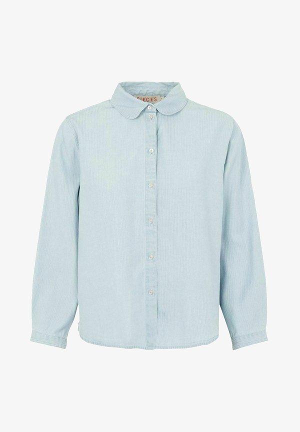 Pieces Koszula - light blue denim/jasnoniebieski RQNG