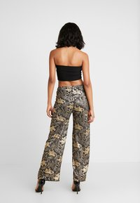 NEW girl ORDER - DRAGON WIDE LEG TROUSER - Kalhoty - black - 2