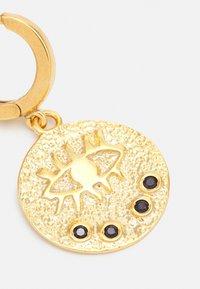 Hermina Athens - KRESSIDA SLIP ON EARRINGS - Earrings - gold-coloured/black - 2