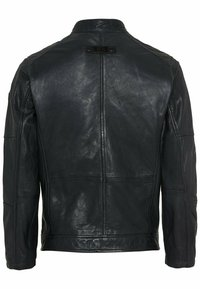 camel active - Leather jacket - navy - 6