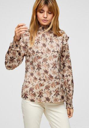 Blouse - ecru floral print