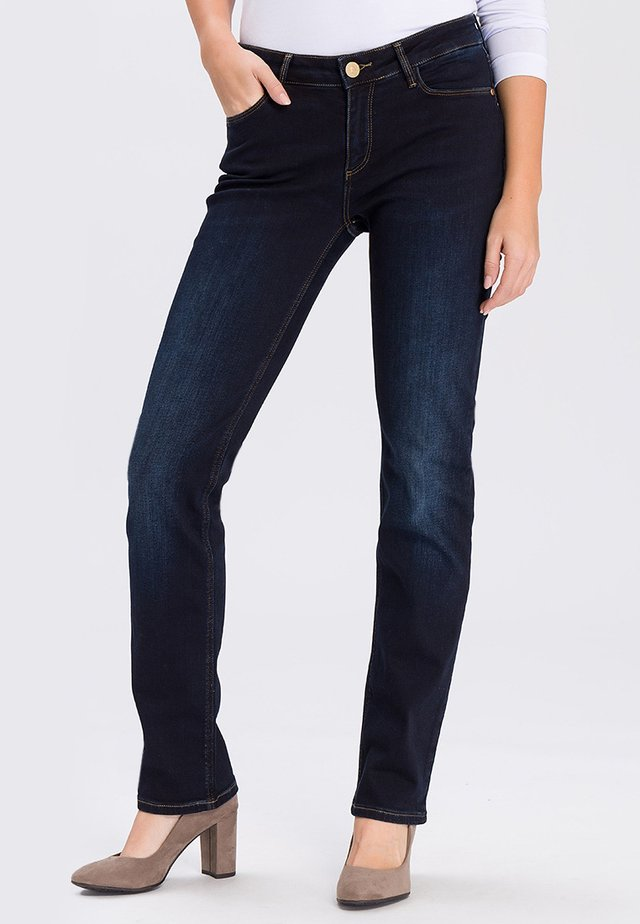 ROSE - Straight leg jeans - blue/black-used