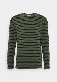 Wood Wood - LONG SLEEVE - Long sleeved top - army/black - 0