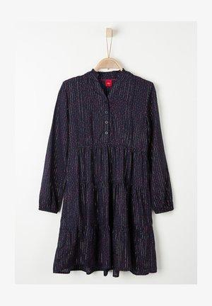 MIT GLITZERGARN - Shirt dress - dark blue aop