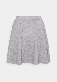 Even&Odd - Flared mini knitted skirt - Minikjol - mottled grey - 5