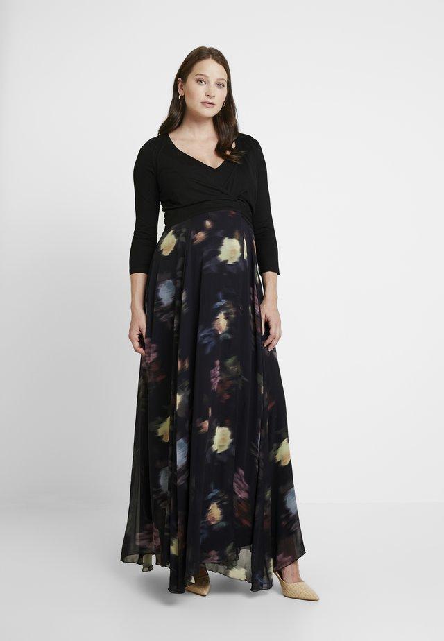 PETUNIA WRAP NURSING GOWN - Vestito lungo - black