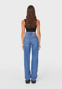 Stradivarius - Jeansy Straight Leg - blue denim - 2