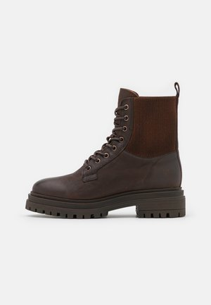 LEA - Lace-up ankle boots - dark brown