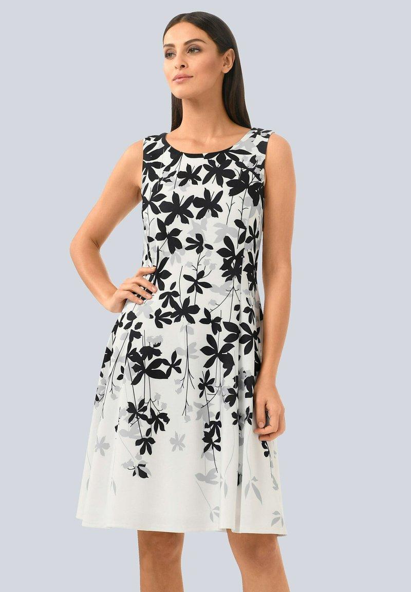 Alba Moda - Day dress - off-white grau schwarz