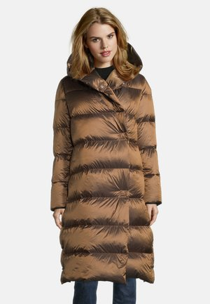 Down coat - light cognac