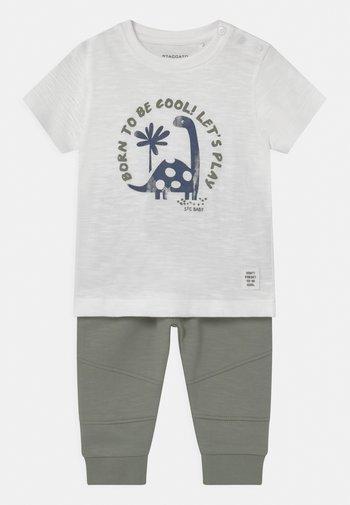 SET - T-shirt print - off-white/khaki