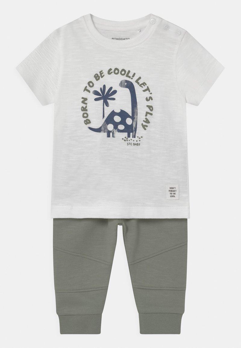 Staccato - SET - Print T-shirt - off-white/khaki
