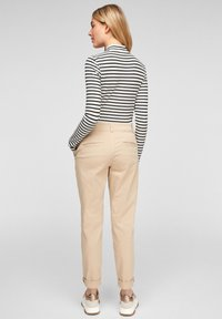 Q/S designed by - Long sleeved top - black stripes - 2