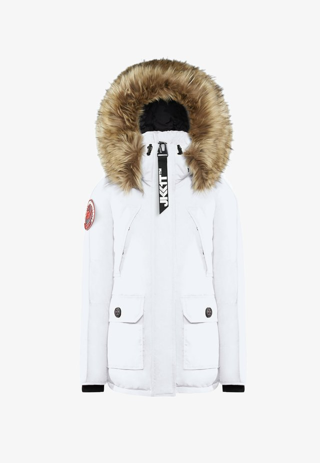 MOUNTAIN BIG BADGE - Gewatteerde jas - off white