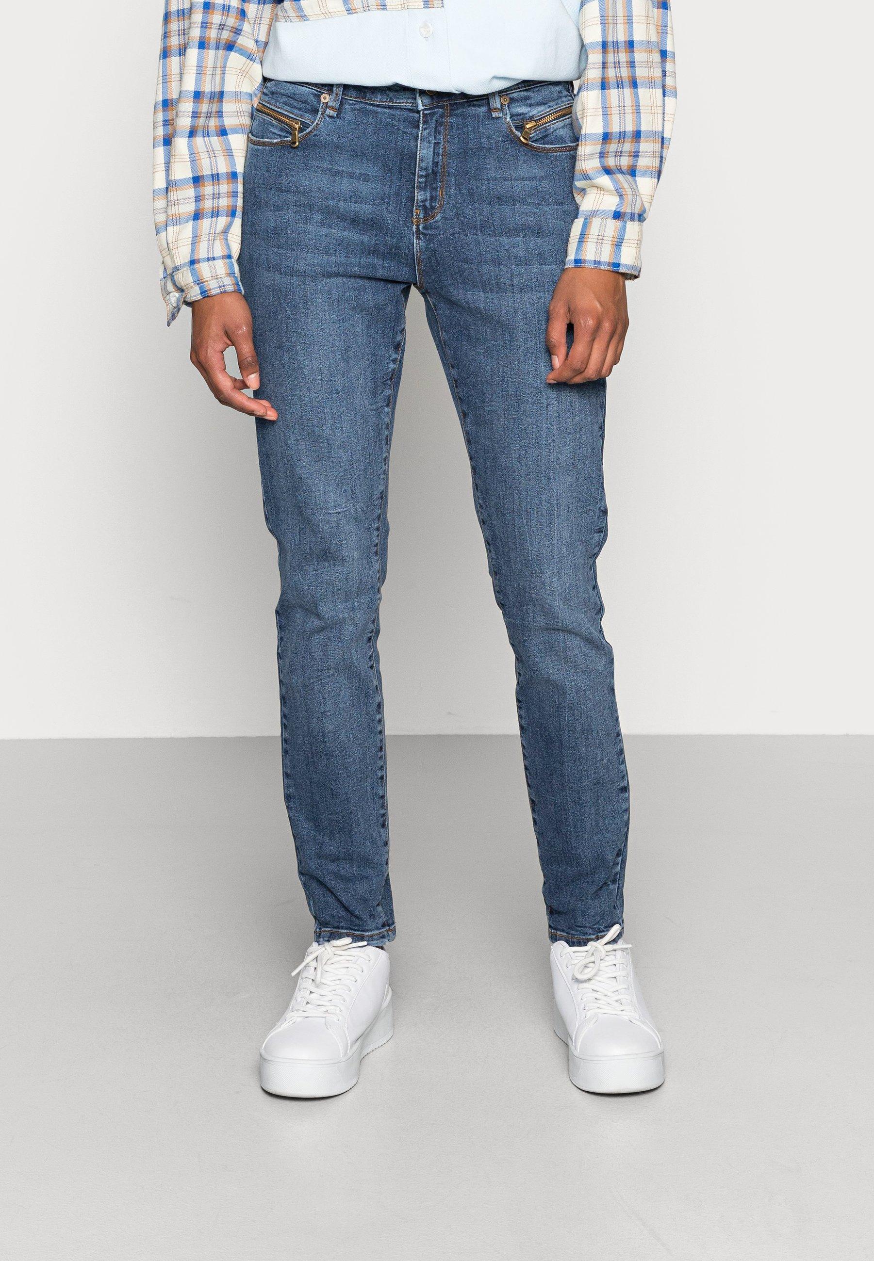 Damen ALEXA ANKLE ZIP WASH STERLING INDIGO - Jeans Skinny Fit