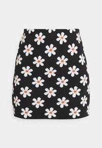 ADELINA SKIRT - Mini skirt - black/white