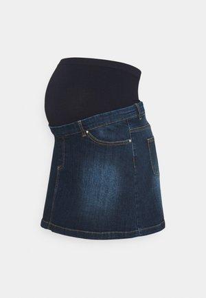 MEGHAN SEAMLESS - Áčková sukně - denim