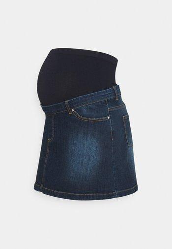 MEGHAN SEAMLESS - Spódnica trapezowa - denim