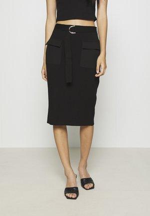 CAPPUCCINO SKIRT - Pencil skirt - black