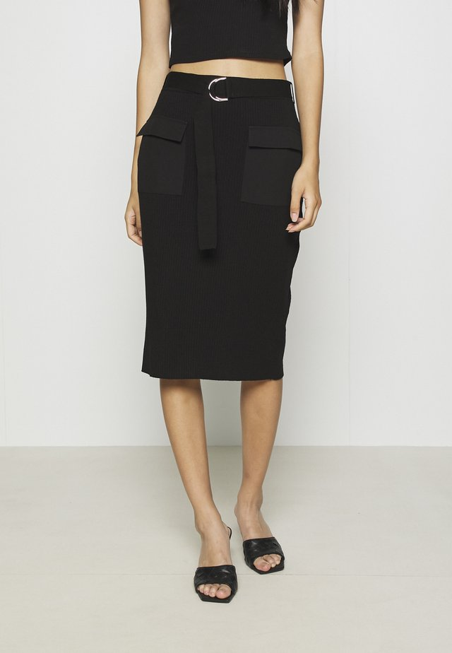 CAPPUCCINO SKIRT - Pencil skirt - black