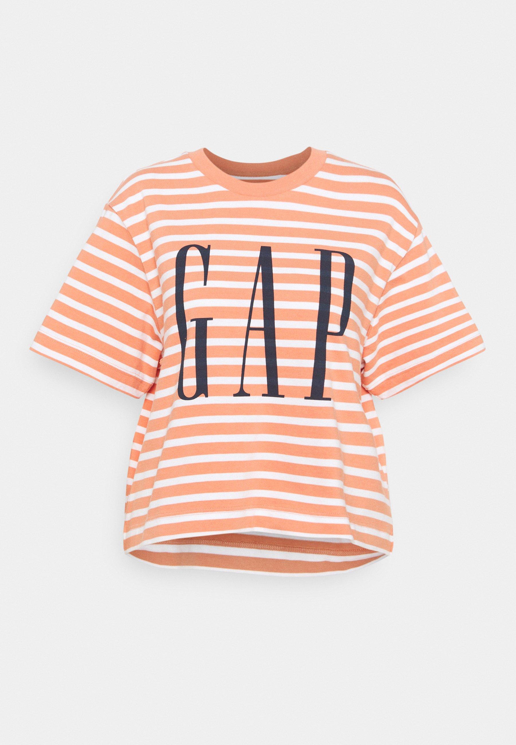 Women BOXY TEE - Print T-shirt - orange