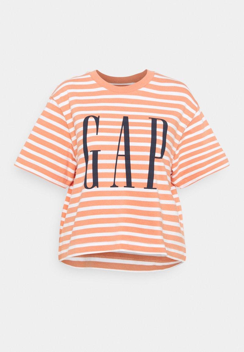 GAP - BOXY TEE - Print T-shirt - orange