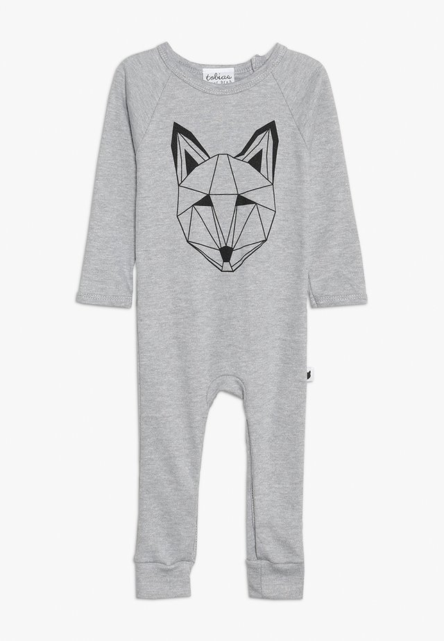 BABY JUST CALL ME FOX LONG ROMPER - Piżama - grey marl
