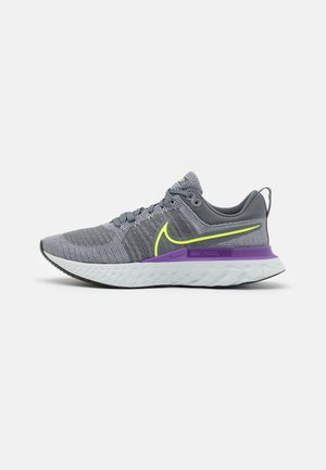 REACT INFINITY RUN FK 2 - Neutral running shoes - particle grey/volt/iron grey/wild berry/photon dust/black