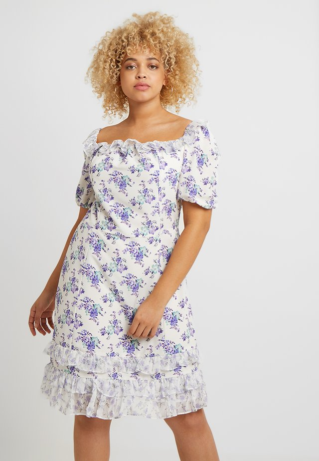 BARDOT MINI DRESS - Korte jurk - white