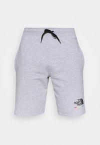 RAINBOW SHORT - Pantalón corto de deporte - light grey heather