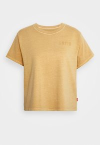 serif outline garment dye iced coffee
