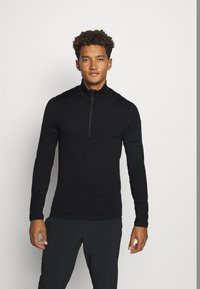 Icebreaker - MENS 260 TECH HALF ZIP - Svetr - black - 0