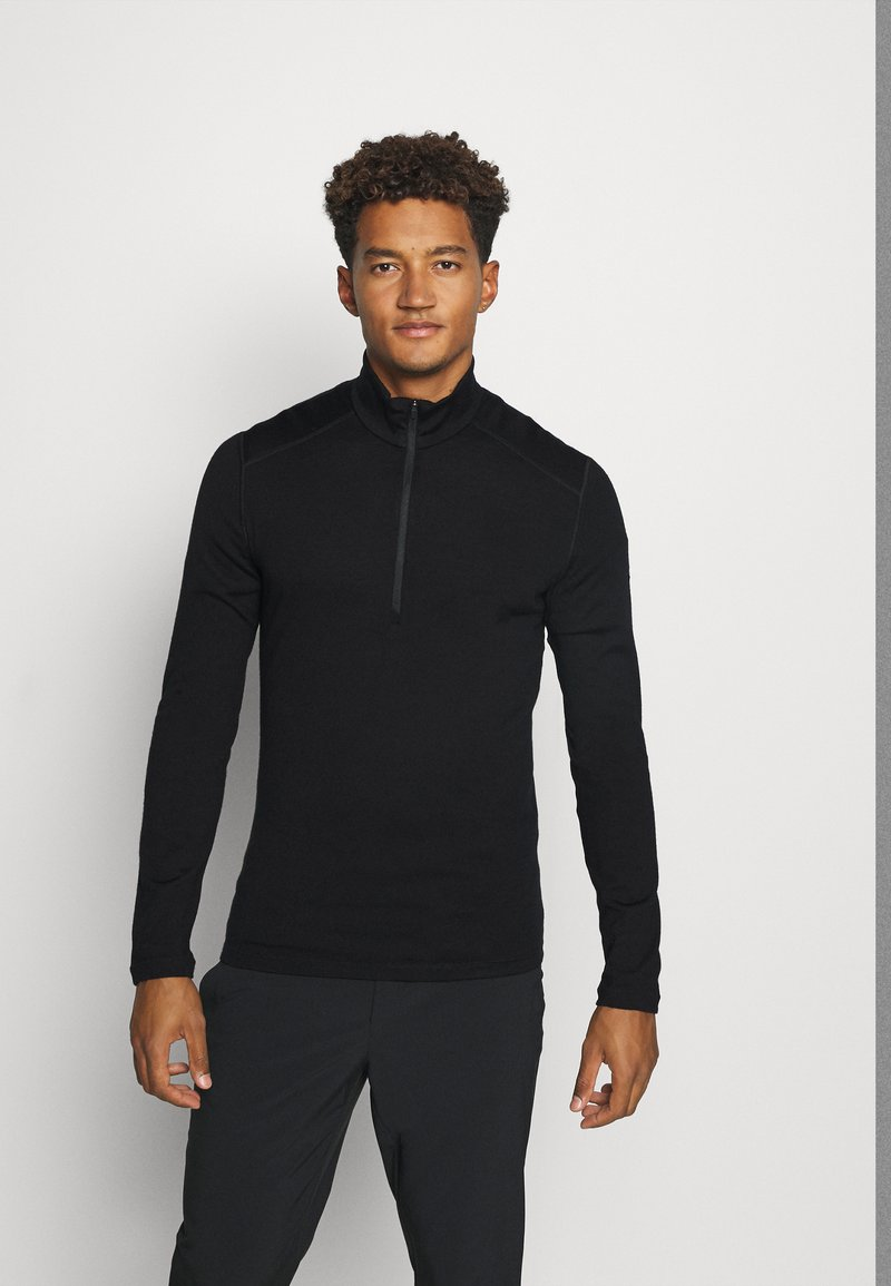 Icebreaker - MENS 260 TECH HALF ZIP - Svetr - black