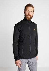 Lyle & Scott - TECH FULL ZIP MIDLAYER - Fleece jacket - true black - 0