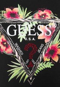 Guess - REBECCA TEE - Print T-shirt - jet black - 2