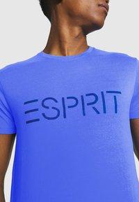 Esprit - LOGO - Print T-shirt - blue - 5
