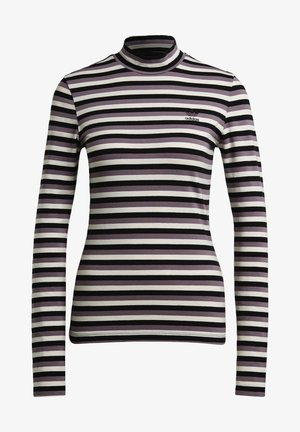 SPORTS INSPIRED LONG SLEEVE - Long sleeved top - black/owhite