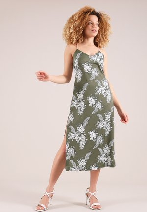 FLORAL SLIP - Vapaa-ajan mekko - green
