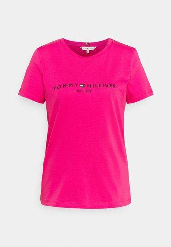 REGULAR HILFIGER TEE  - Basic T-shirt - pink