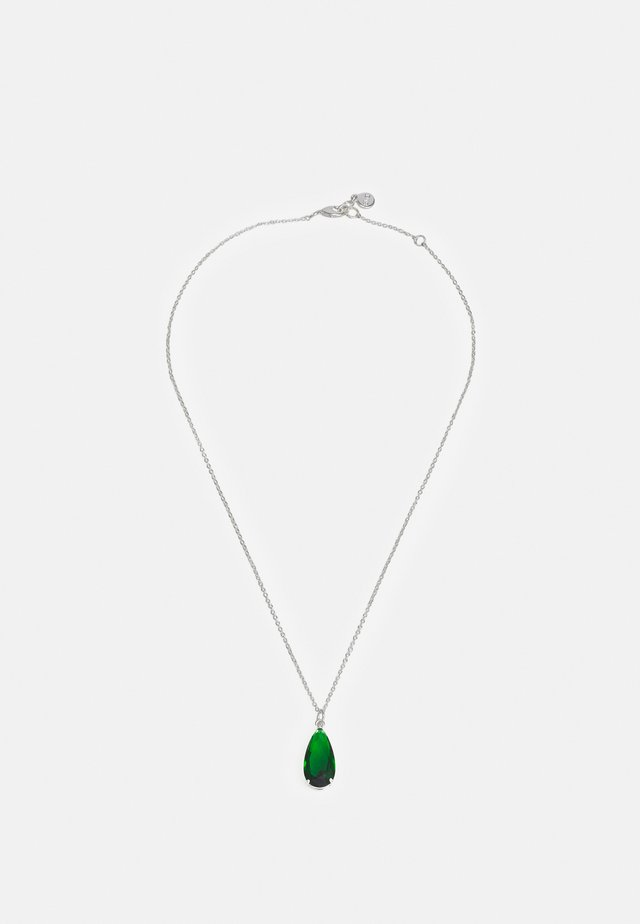 CAMILLE PENDANT NECK - Collier - silver-coloured/green