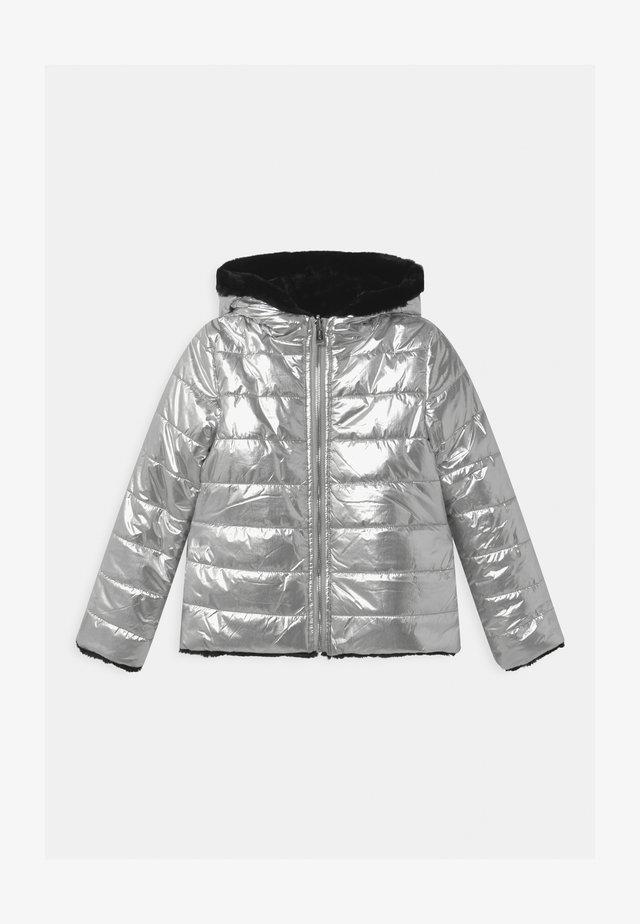 JUNIOR REVERSIBLE - Winter jacket - gris/silver