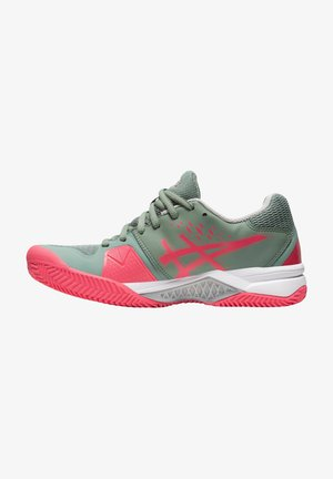 GEL CHALLENGER 12 CLAY - Clay court tennis shoes - stone